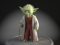 3d model star wars yoda