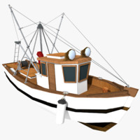 stylized fishing boat 3d model