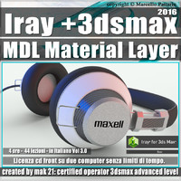 Iray + in 3dsmax 2016 MDL Material Layer Vol 3.0 Cd Front