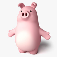 3d model of toon pork