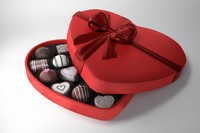 valentines chocolates box 3d model