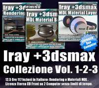 Iray + in 3dsmax 2016 Collezione 1 - 2 - 3 Cd Front