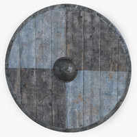 wooden shield vikings 3d max