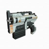 sci fi gun 3d 3ds
