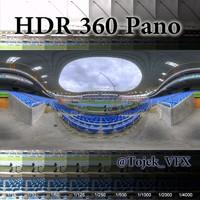HDR 360 Pano Olympic Stadium14 Joao Havelange