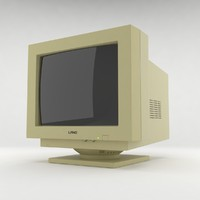 old crt monitor 3d max