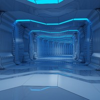 sci-fi tunnel animation 3d max