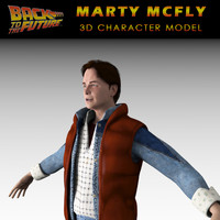 3d model michael marty mcfly character