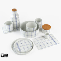 3d model complete kitchen set mormor