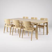3d artek domus chair