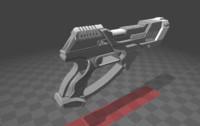 futuristic pistol obj