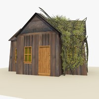 old wooden house ivy 3ds