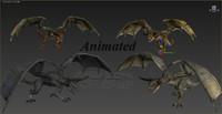 3d model dragons wyverns