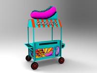 3d model of hotdog stand