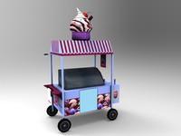 3d icecream cart