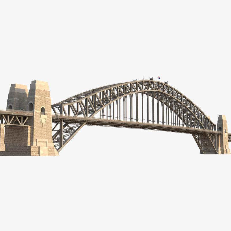 Sydney Harbour Bridge 3d model 00.jpg