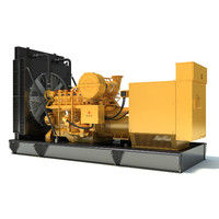 Gas Generator Engine 3D Model