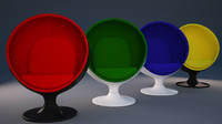 3d obj ball chair