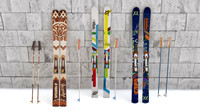3d model skis mountain