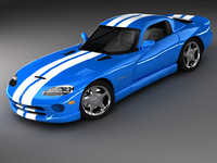 3ds dodge viper gts sports car