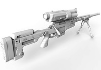trackingpoint sniper rifle 3d model