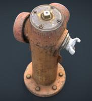 realistic hydrant obj