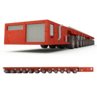 rigged self-propelled modular transporter 3d max
