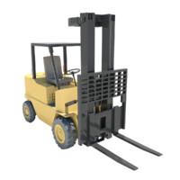 forklift truck lift fork 3d obj