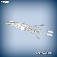 base mesh squid 3d c4d