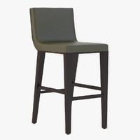 barstool wickliff stool 3d obj