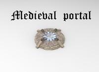3d portal medieval model
