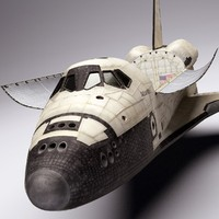 space shuttle 3d obj