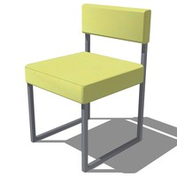 3d model of dinning chair french design