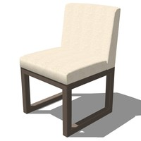 dinning chair french design 3d 3ds