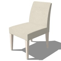 3d dinning chair french design model
