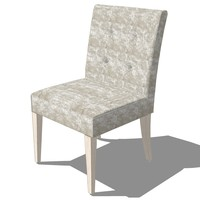 3d model dinning chair french design