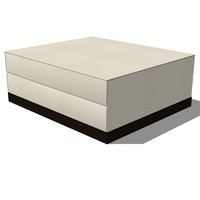 footstool french design 3d 3ds