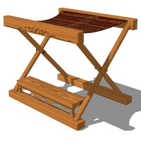 footstool  design with sketchup