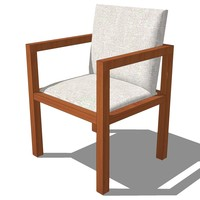 3ds french classic armchair designed