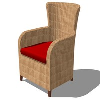 3d french classic armchair designed