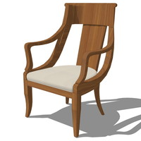 3d model french classic armchair designed