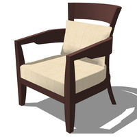 3d french classic armchair designed model