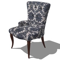 french classic armchair designed 3d 3ds
