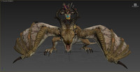 3d fantasy wyvern rider animations