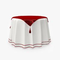 3d model table tablecloth cloth