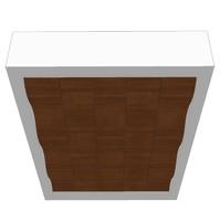 false ceiling feature element 3d 3ds