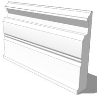 3d model skirtboard element