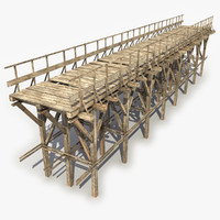 wooden bridge 6 3d model