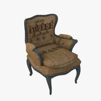max burlap chair