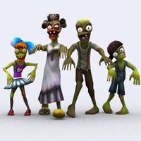 fantasy toonworld zombie family 3d 3ds